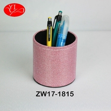 Cardboard Custom Pu Leather desk Pen Holder for kid