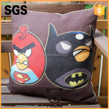 heat transfer printing wooden bolster cushion cover with pp cotton inserts