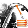 Badass Moto Gear Ultra Soft Loops Motorcycle Tie Down Straps. Silky Premium Tiedowns Pamper Chrome, Fit where Ratchet Straps won