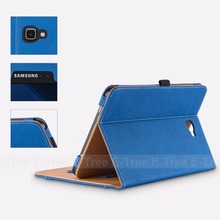 E-Tree original Premium Synthetic Leather Flip Case For Samsung Galaxy Tab 10.1 Case Cover Pocket Card Stand Function