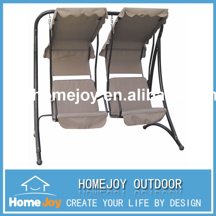 Hot sale two seat patio swing with canopy