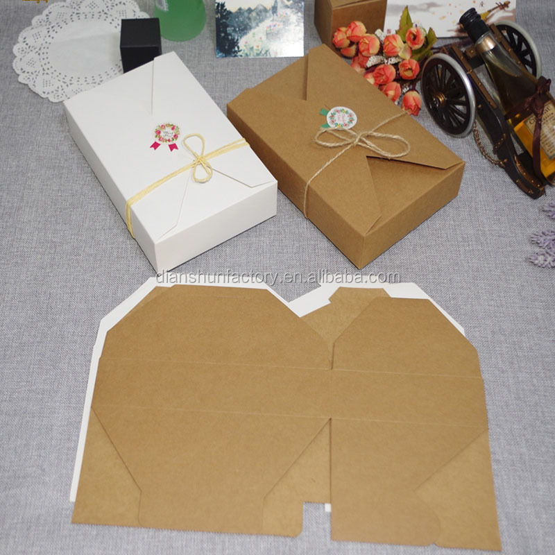 kraft paper gift box envelope type kraft cardboard boxes package for wedding party invitation cards
