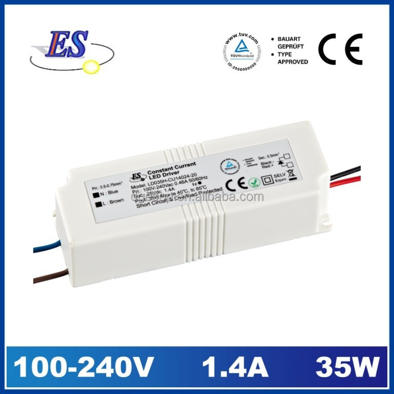 33.6W 1400mA AC-DC Constant Current LED Driver with TUV / CB / UL approval
