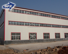 China supplier long-span Q345 steel structure framework factory building