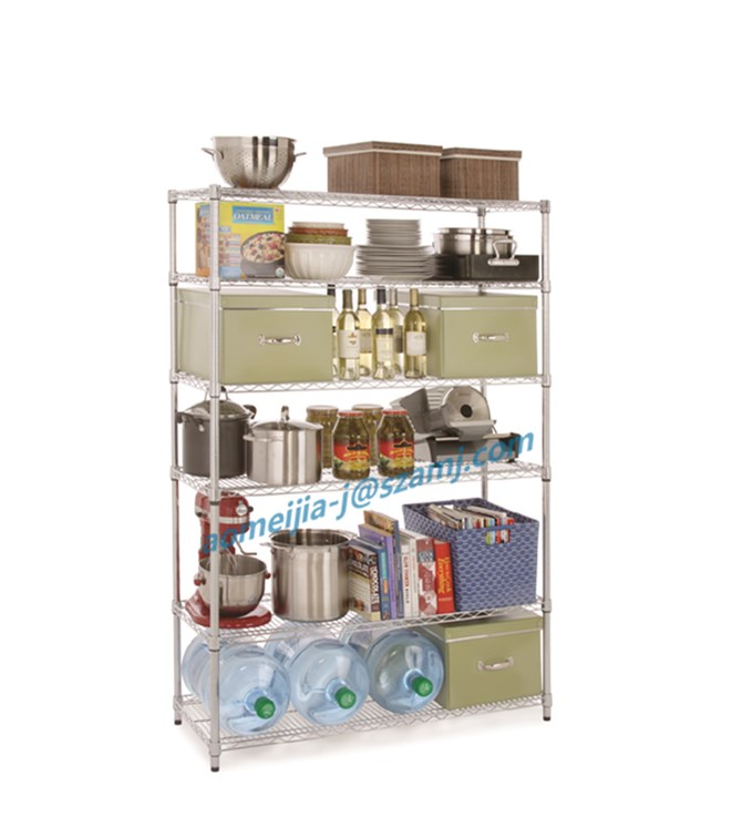 Heavy duty weight bearing 6 layer stainless steel wire mesh shelves