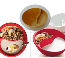 Plastic Soggy bowl 2 IN 1 milk cereal bowl snack tray