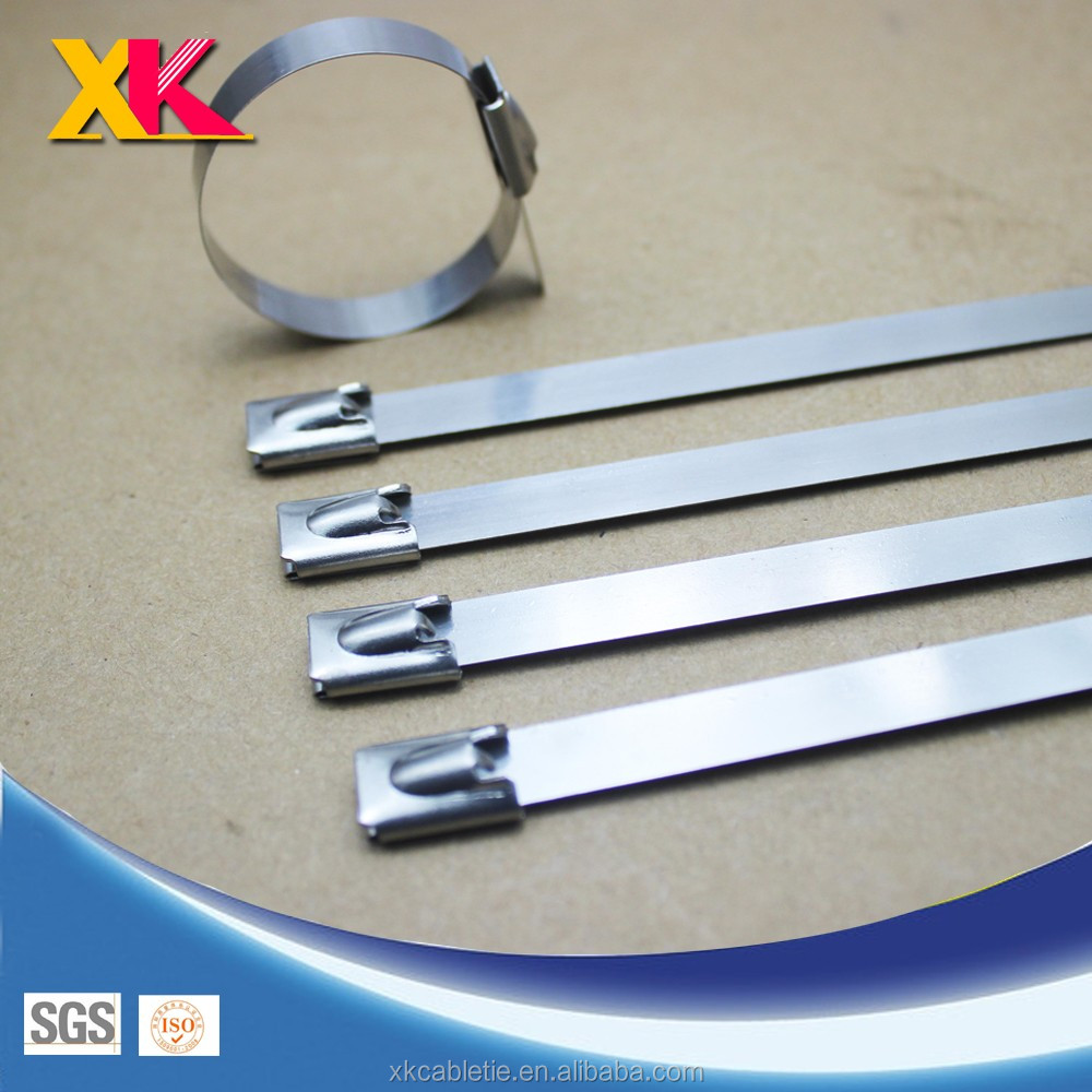 Stainless Steel Exhaust Wrap Coated Locking Cable Zip Tie