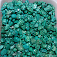 wholesale natural turquoise gravel small rough stone for home decor