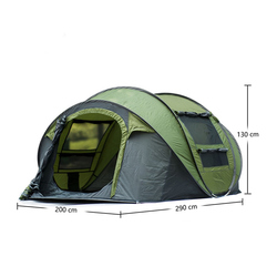 Automatic Outdoor Pop-up Tent for Camping Waterproof Quick-Opening Tents 4 Person Canopy with Carrying Bag Easy to Set up By Qis