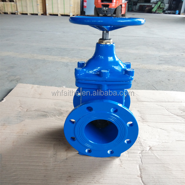 Ductile iron BS5163 non-rising stem resilient seat gate valve DN100