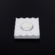 White marble candle holder, white stone candle cup