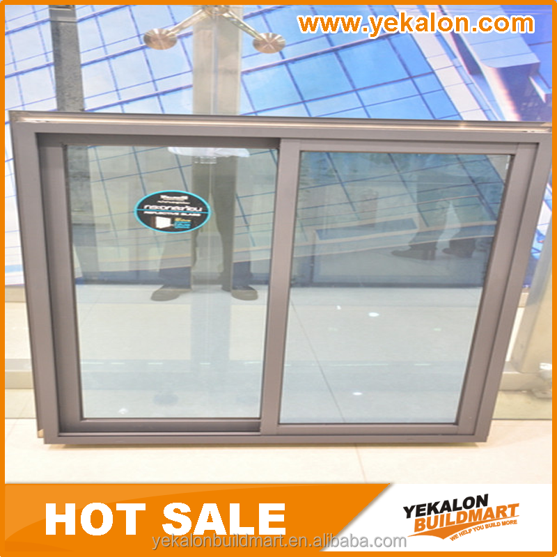 Free sample new design aluminium frame sliding glass window