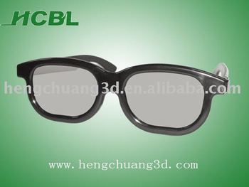 2013 popular circular polarized lens ABS frame 3d glasses