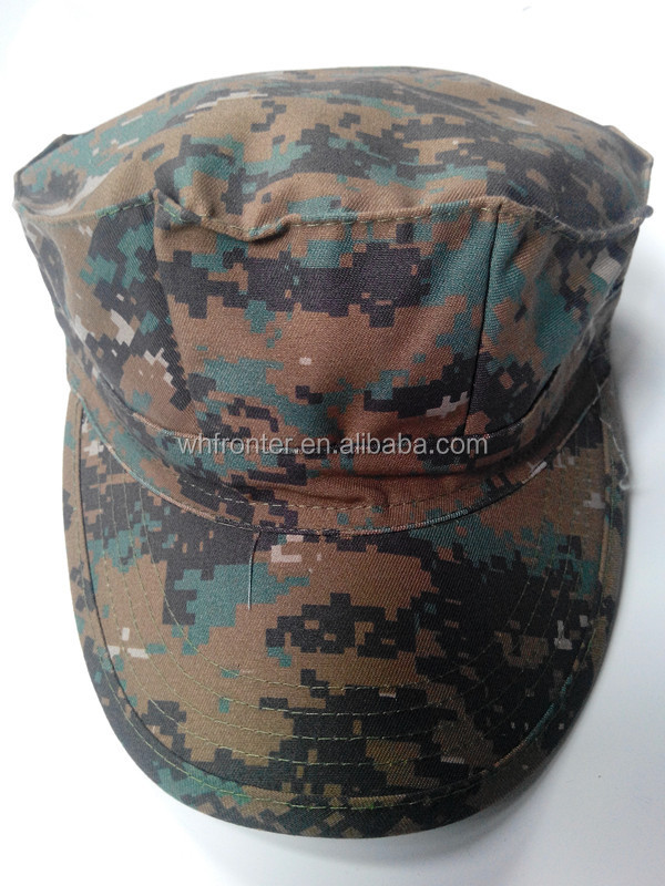Hot sale Digital woodland camo Military Camouflage Octagonal Cap and Hat