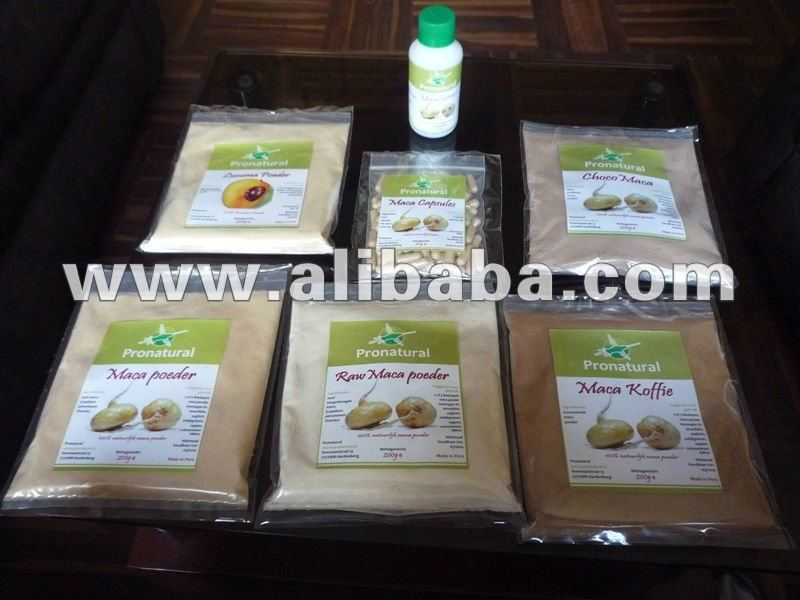 MACA PRODUCTS FROM PERU