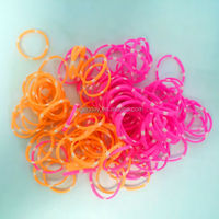 Silicone colored rubber band rings