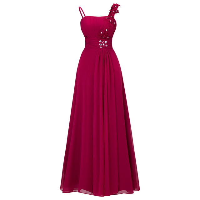 Cheap 4 Colors Chiffon Cocktail Dresses Party Evening Gowns Wedding Bridesmaid Off-ShoulderDress