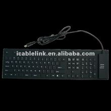 Silicon Soft and Foldable USB Keyboard 109 Keys (UK)