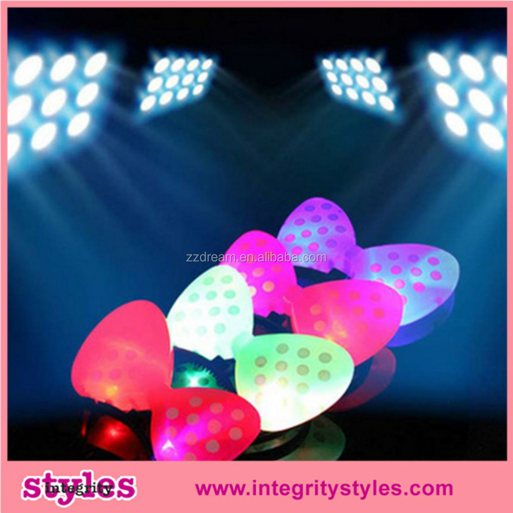 LED Hair Accessories for party girl party accessories for kids Glow flashing light up hair band