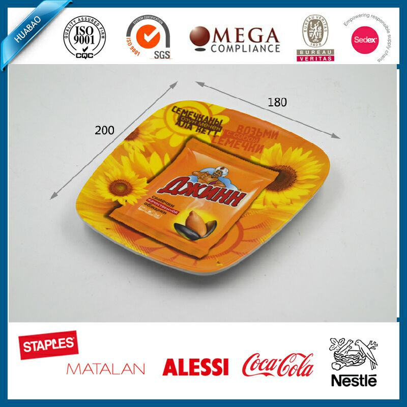 Custom design printing melamine coin tray , serving tray