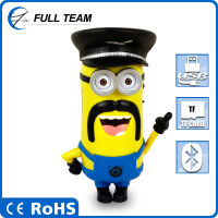 Hifi minion mini rechargeable portable speaker with fm radio usb tf repeat functions