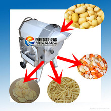 FC-312 Electric Automatic Industrial Potato Cutter Machine (3 in 1) Slice, French fries, Cube (MOB:86-18902366815)