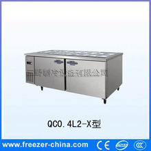 Resturant kitchen stainless steel pizza counter