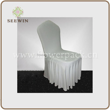 factory supply graceful wholesale ruffled wedding chair cover