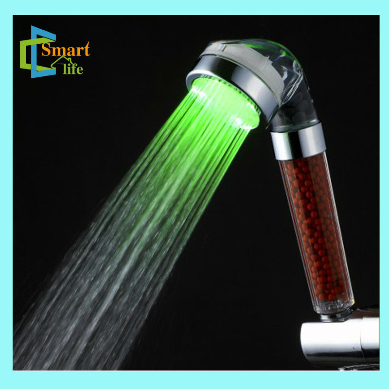 C-158-1LED color change baby shower favors gifts hydro power led shower head temperature control