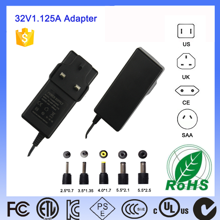 United kingdom 32V 1.25A adaptors BS1310 for led strip