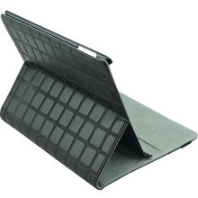 Black folder leather case for ipad 2
