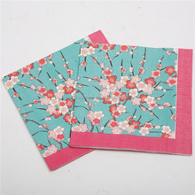 330*330 3 ply novelty printing customized printed paper napkins