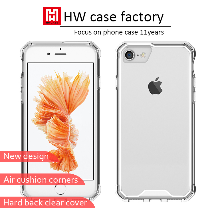 factory price promotional clear tpu pc silicon case for iphone 7