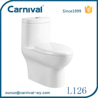 China supplier sanitary ware water saving siphonic one piece toilet price L126