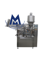 MIC machinery R60 CE approved automatic cosmetic tube sealer filling machine for soft plastic tube