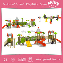School outdoor playground equipment for children slide gym climb toys play house outside used