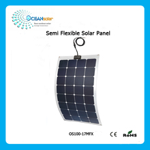 Hot sale factory direct price monocrystalline silicon 100w flexible solar panel
