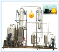 TOP 10 tons/day engine oil recycling machine no chemical,with distillation technology