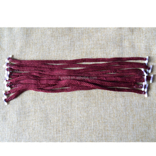 Factory laces with fitted plastic end /plastic end barb handle rope for shopping bag