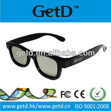 Circular polarized cinema 3D glasses flicker free