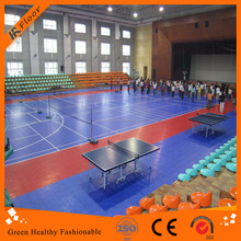 Multi sport badminton/ basketball court flooring interlocking floor tile
