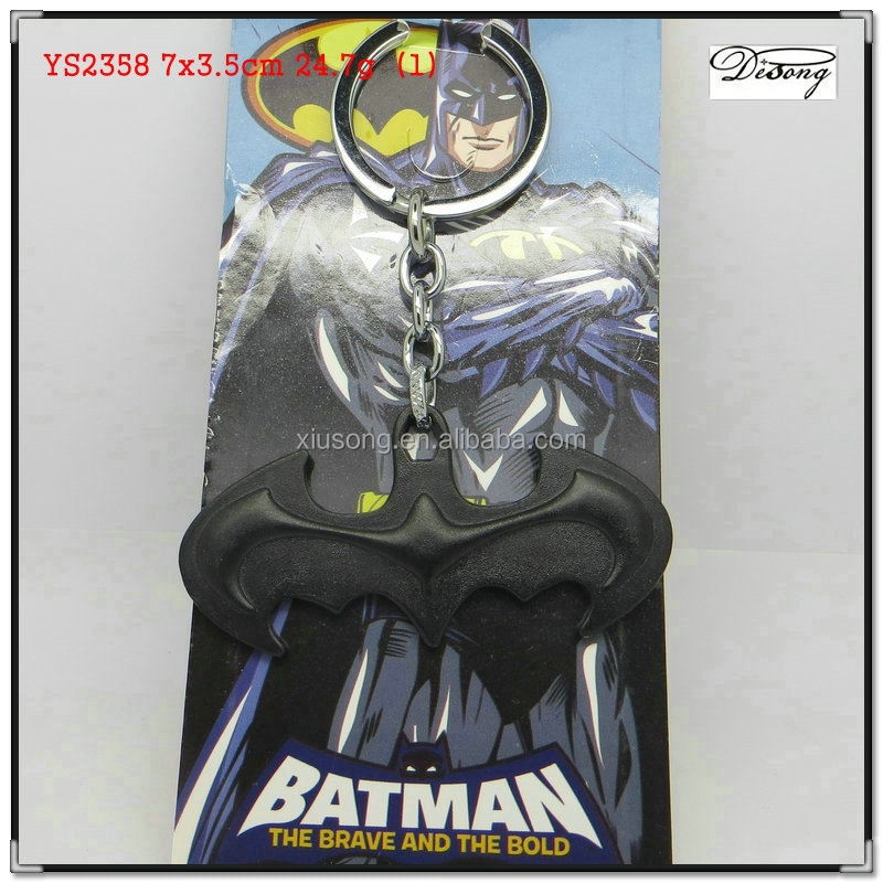 YS2358 promotional factory online design custom Manufacturers 2015 hot selling low price quality Halloween black batman keychain