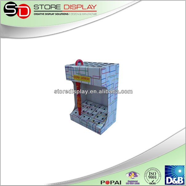 OEM corrugated carboard display racks for umbrella stand