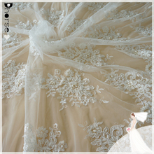 2015 dhorse border lace/DH-BF792 guangzhou lace embroidery fabric/latest beaded and embroidery designs