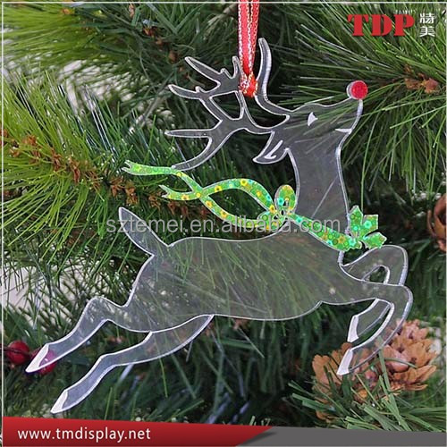clear acrylic reindeer hanger for Christmas tree