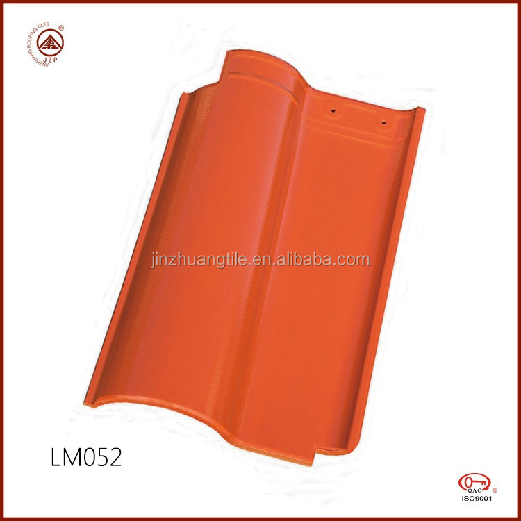 China Manufacture 260x400mm Glossy Red Clay Roof Tiles