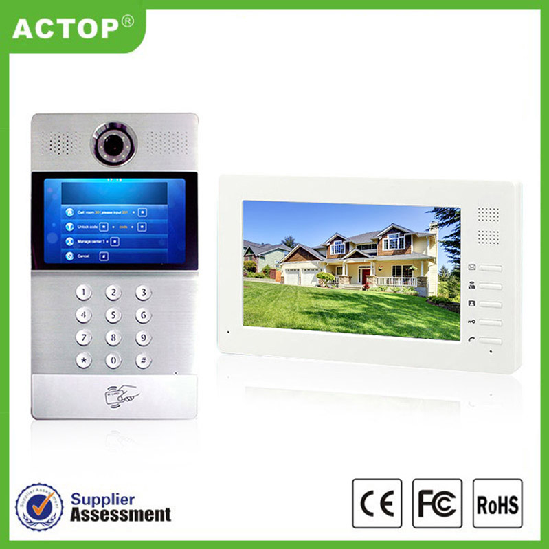 New Arrival Two-way talk 4.5inch Wifi IP Video Door Bell with camera Battery powered