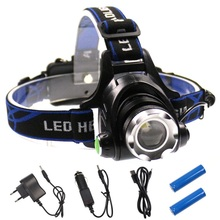 Factory Supplier Ultra Bright Rechargeable T6 Head lamp Multifunction Led lighting Torch Cheap Moving Headlamp