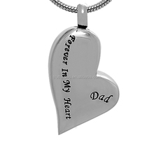 Forever In My Heart Custom 316L Stainless Steel Wholesale Cremation Jewelry For Dad