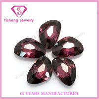 Flat Back Faceted Round Multi Color Cubic Zirconia Jem Stones